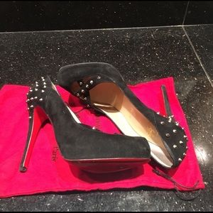Christian Louboutin Suede Spiked Heels